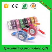 Colorful Electronic Promotional Products , 1m / 2m / 3m Led Lighting Micro Usb Data Cable Manufactures