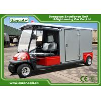 2 Seater 48v Electric Ambulance Golf Cart With Rain Cover Waterproof Manufactures