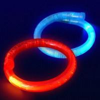 Fiber Plastic Flashing LED Bracelets, Available in Red, Yellow, Blue, Green, Purple and White Manufactures