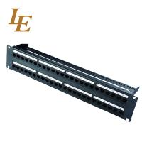 CAT6A 2RU 48 Port Patch Panel Shield Rack Mount Customized High Reliability for sale
