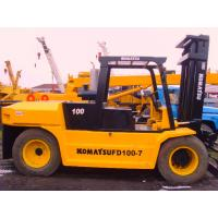 China Used Construction Machines Komatsu Fd100 Diesel Forklift 10 Ton Lift Capacity on sale