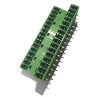 Buy cheap 3.81 Pluggable Terminal Block , Male 3 * 16P Straight Right Angle Terminal from wholesalers