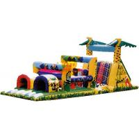 PVC Tarpaulin Inflatable Colorful Castle Bouncer / Obstacle Custom For kid Manufactures