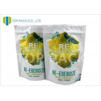 Air proof Stand Up Ziplock Bags Powder Packaging / Resealable Food Pouches For Vitamin Manufactures