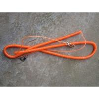 Best metal clips on two ends long orange color long steel spring coil tool lanyard cords