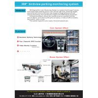 Wide Angle Vehicle Reverse Camera Cystems With Night Vision / IP67, HD Camera, 360 Bird View System Manufactures
