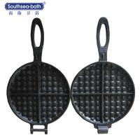 China Global Hot Sale Professional Pre-seasoned Cast Iron Waffle grill Pan on sale