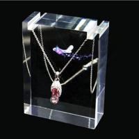 Transparent Polishing Acrylic Necklace And Earring Display Stands For Jewelry Show Manufactures