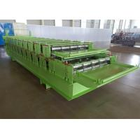 China Steel Sheet Profile Tile Wall Panel Double Layer Roll Forming Machine Feeding Width 1000mm on sale