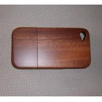 Sapelli Wood Cell Phone Back Cover With Straight Grain,Apple Iphone Case Manufactures