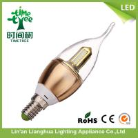 Energy Saving Tail e14 / e12 Led Candle Light Bulbs For Residential Buildings Manufactures