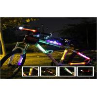 Mini Purple LED Flashing Bike Light On Frame For Cycling Stick On Clothing Manufactures