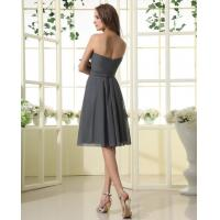 Quality Albizia Strapless Pleated Ruffle Chiffon Prom Dresses for sale