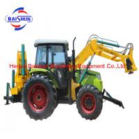 China Hydraulic pile driver solar poles erection machine attached to excavator on sale