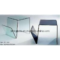 Tinted Glass Magazine Rack (GMR-069) Manufactures