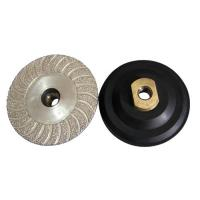 4 Inch 100mm Diamond Cup Wheel Vacuum Brazed Wet / Dry  Polishing For Hard Stone Manufactures