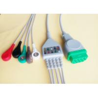 China GE - Marquette Responder ECG Cable And Leadwires , 11Pins Green Connector on sale