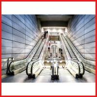 Automatic Induction Moving Walk Escalator Efficient For Large Passenger Manufactures