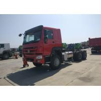 Tri Axles Heavy Cargo Truck Chassis 80R22.5 Tire Manual Transmission Manufactures