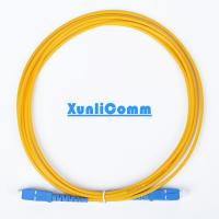 Quality FTTH Simplex SC-SC Fiber Optic Patch Cord 3 Meters Yellow Color Low Insertion Loss for sale