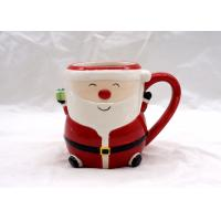 Food Safe 3D Ceramic Mug Hand Painted 14 OZ Christmas Children Gifts Dolomite Material for sale