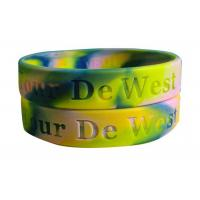 Camouflage Festival Silicone Rubber Band Bracelets Debossed For Youth Manufactures