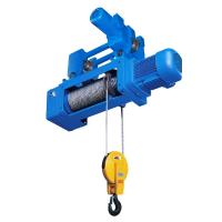 Standard Headroom Trolley Wire Rope Hoist , Mining 3P 380V Manufactures