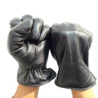 Soft Plain Custom Leather Gloves , Leather Winter Driving Gloves Silk Lining Manufactures