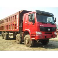 Howo 8 by 4 heavy duty dump truck 8 Meters Front Tipper 45 tons loading for construction / mining Manufactures