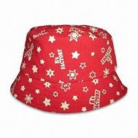 Bucket Hat with Cotton Lining, Made of Cotton Twill Manufactures