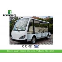 White Color Electric Sightseeing Car For Multiple Public Zone Payload 11 Person Manufactures