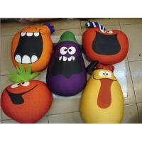 vegetable style cushion,beads cushion,polythene ball filling cushion,funny play toy Manufactures