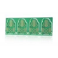 Electronic Controller Green Double Sided PCB with V Cut / Stamp Holes Routing Outline Manufactures
