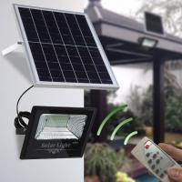 China IP67 Solar Led Flood Lights Outdoor With Remote Controller Light Sensor And Time Control on sale
