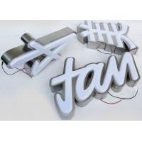 Plastic 5730 Led Channel Letters 3mm Acrylic Panel With Vacuum Formed 3D Face Manufactures