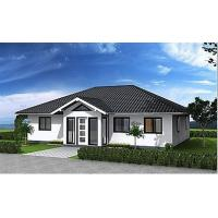 Hurricane Resist Prefabricated Bungalow , Steel Structure Bungalow House Manufactures