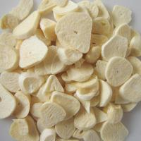 China Healthy Freeze Dried Food Wholesale White Freeze Dried Garlic Slices on sale