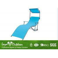 Moisture - Proof Blue Comfortable Folding  Beach Chair With Canopy Portable