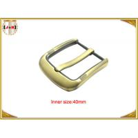 Fashion Gold Pin Style Metal Belt Buckle Environmental Electroplate Manufactures