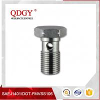 China STAINLESS STEEL MATERIAL BRAKE HOSE FITTINGS SINGLE BANJO BOLT M12 X 1.25 on sale