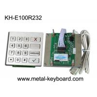 Vandal Proof Kiosk / ATM Checking Devices Metal Numeric Keypad Outdoor , 16 Function Keys Manufactures