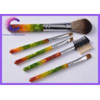Luxury gift Cosmetic 5 piece makeup brush set with Hot stamping , silkscreen logo Manufactures