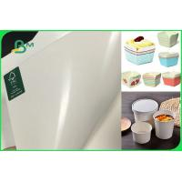 China FSC Certified Food Grade PE Coated Folding Board In Roll For Making Paper Cup on sale
