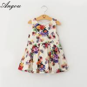 Wholesale summer Girls Dress fashion floral pattern dress children customizable clothing Manufactures