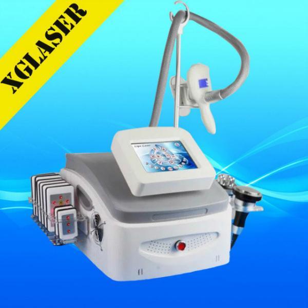 Quality Newest 5 handles cyrolipolysis vacuum slimming ultrasonic machine with cavitation rf for sale