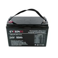 China Deep Cycle Lifepo4 Rechargeable Battery 24 Volt 50Ah Fast Charged For Golfcart / EVs on sale