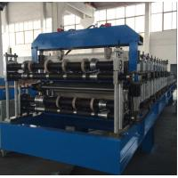 China Double Layer Sheet Metal Forming Equipment , Metal Roofing Roll Forming Machine Manual Decoiler on sale