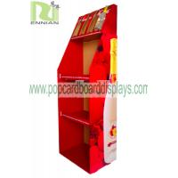 China Recyclable Water / Wine Red Paper Pop Cardboard Displays Custom Designed wholesale