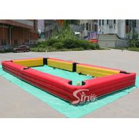 China 10x5 Mts Giant Inflatable Human Billiards Bounce House With Snooker Balls For Snooker Football Entertainment on sale