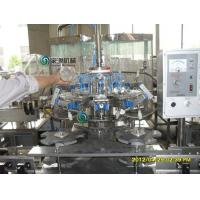 Glass Bottle Hot Juice Filling Machines , Automatic Water Bottling Plant Manufactures